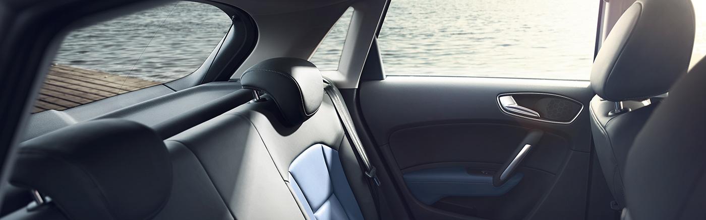 Location voiture Audi A1 Sportback siège arrièrre